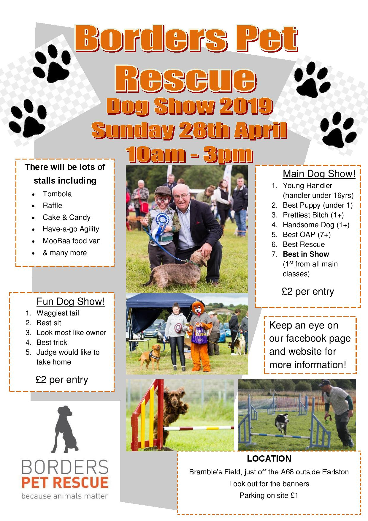 DOG SHOW first edition poster