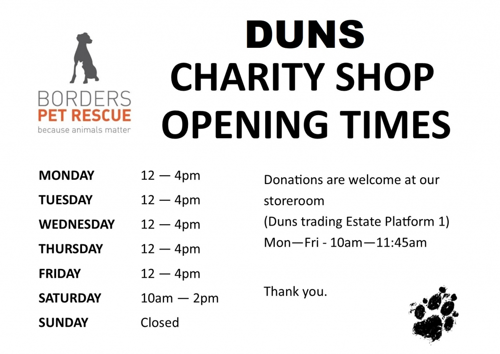 Duns opening times w name